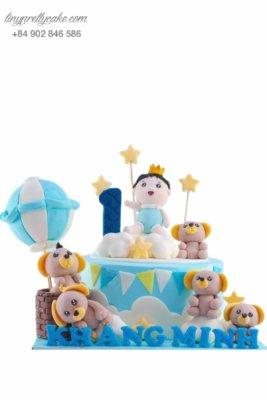 bánh sinh nhật hoàng tử cho bé trai