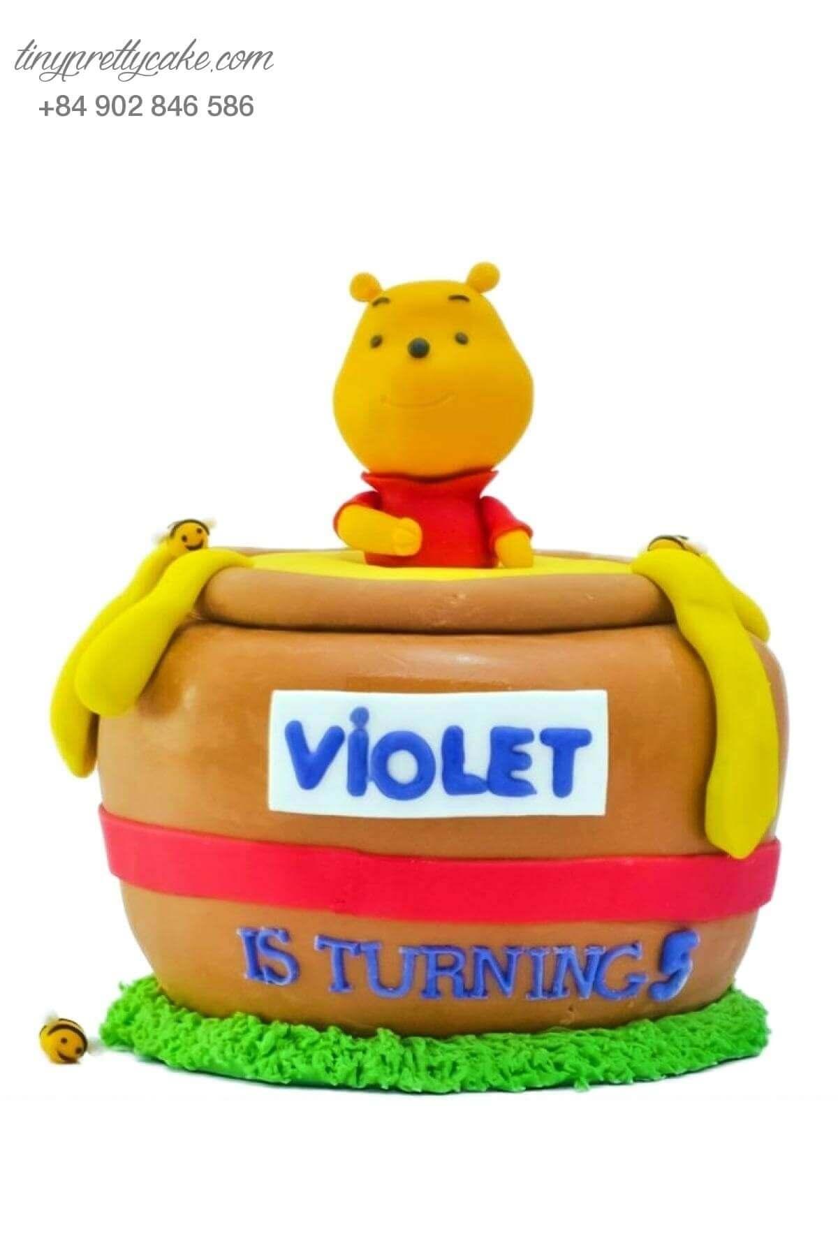 bánh sinh nhật gấu Pooh