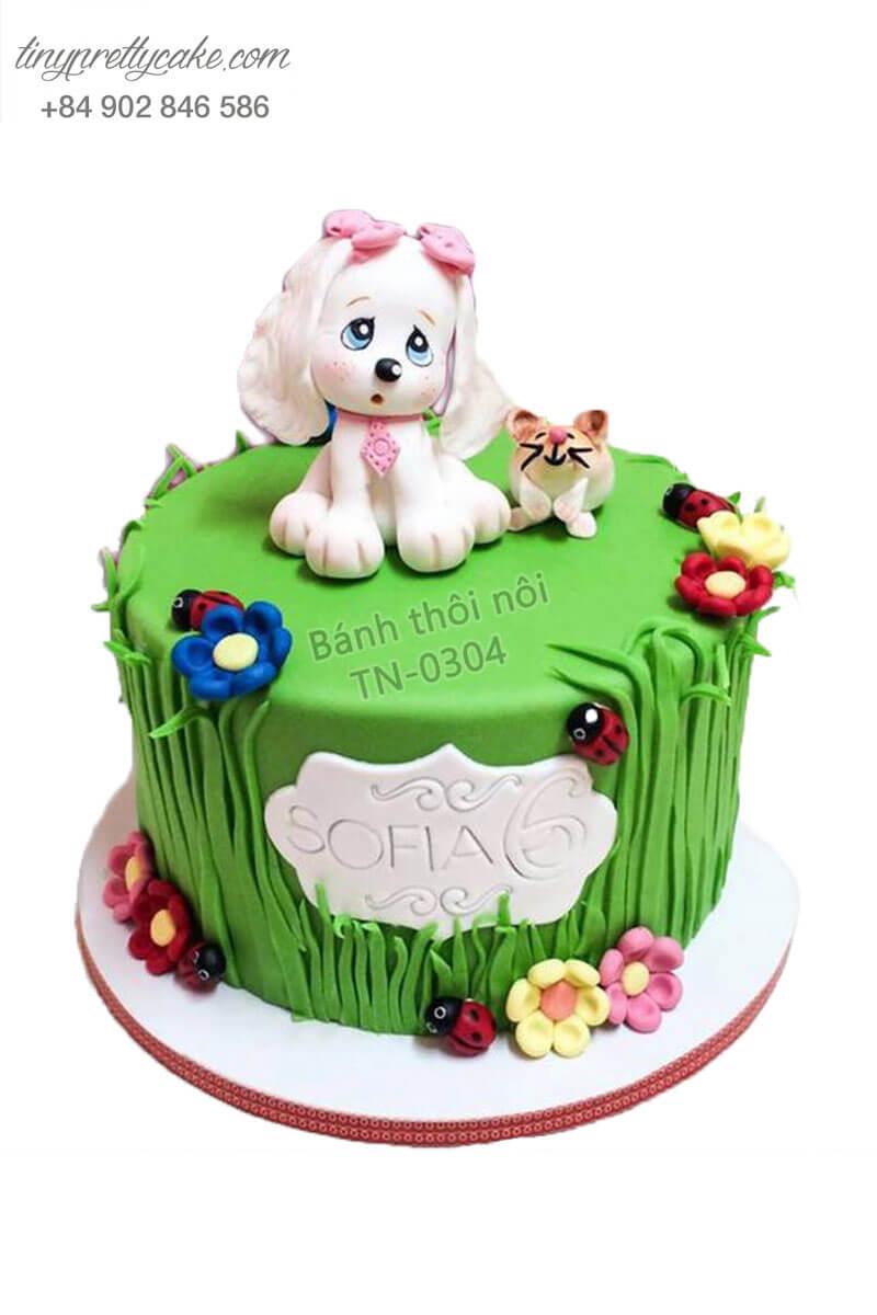 bánh sinh nhật đẹp cho bé gái tuổi Tuất