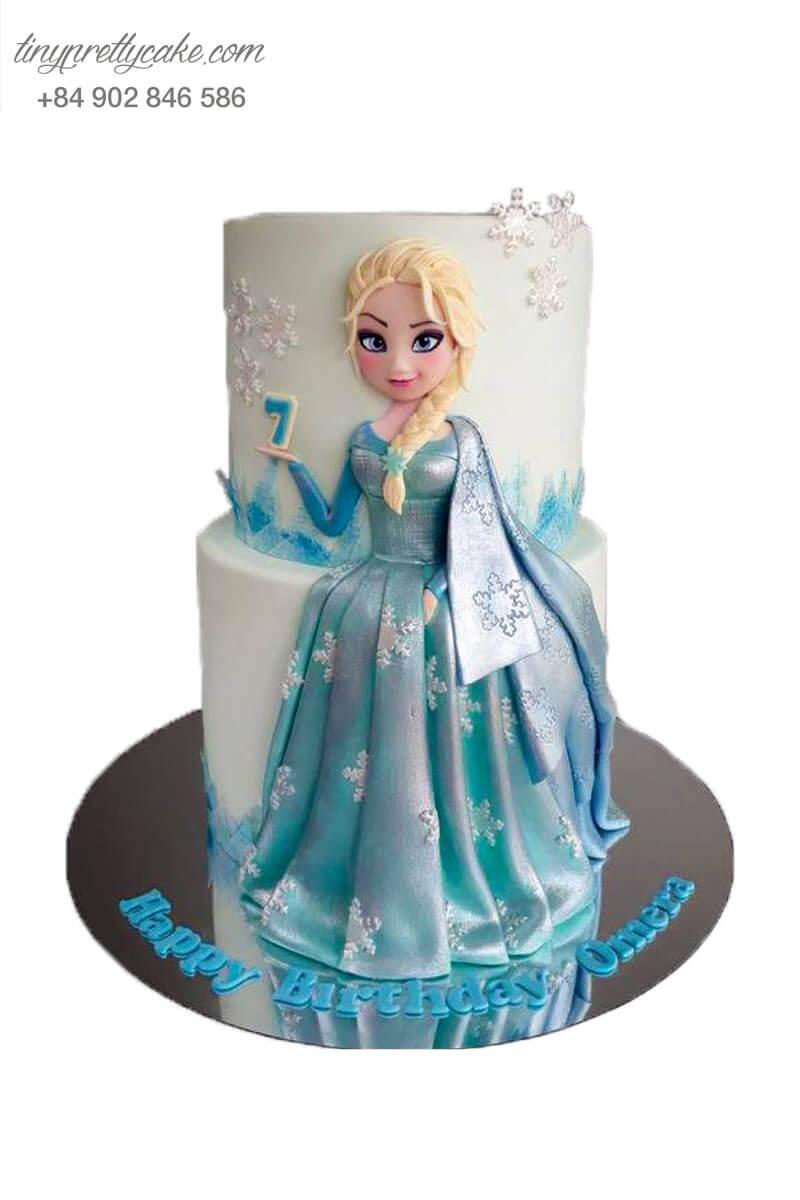 bánh sinh nhật nữ hoàng Elsa