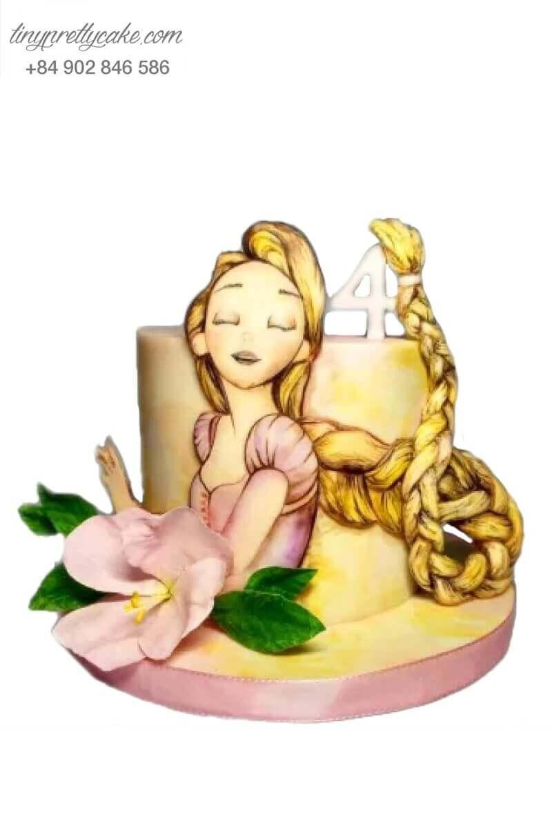bánh sinh nhật nàng công chúa tóc dài