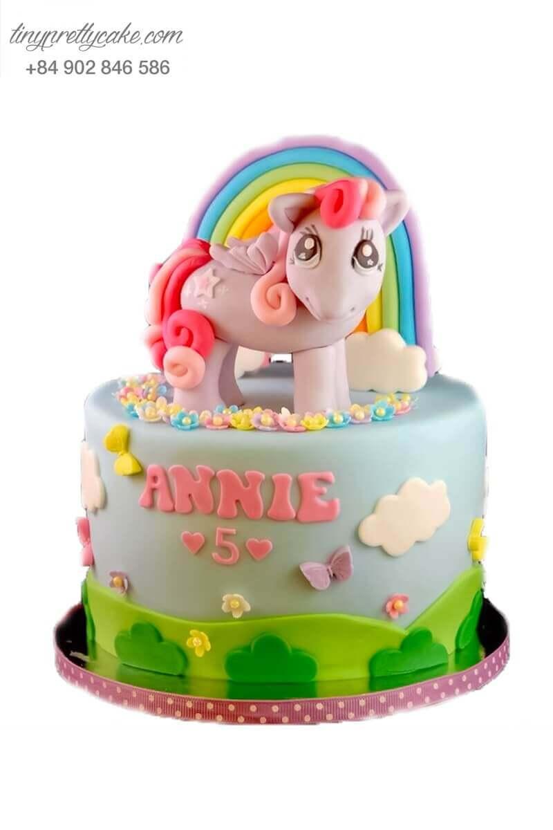 bánh sinh nhật Pony cầu vồng