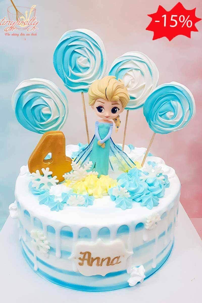 bánh sinh nhật Elsa ngọt ngào