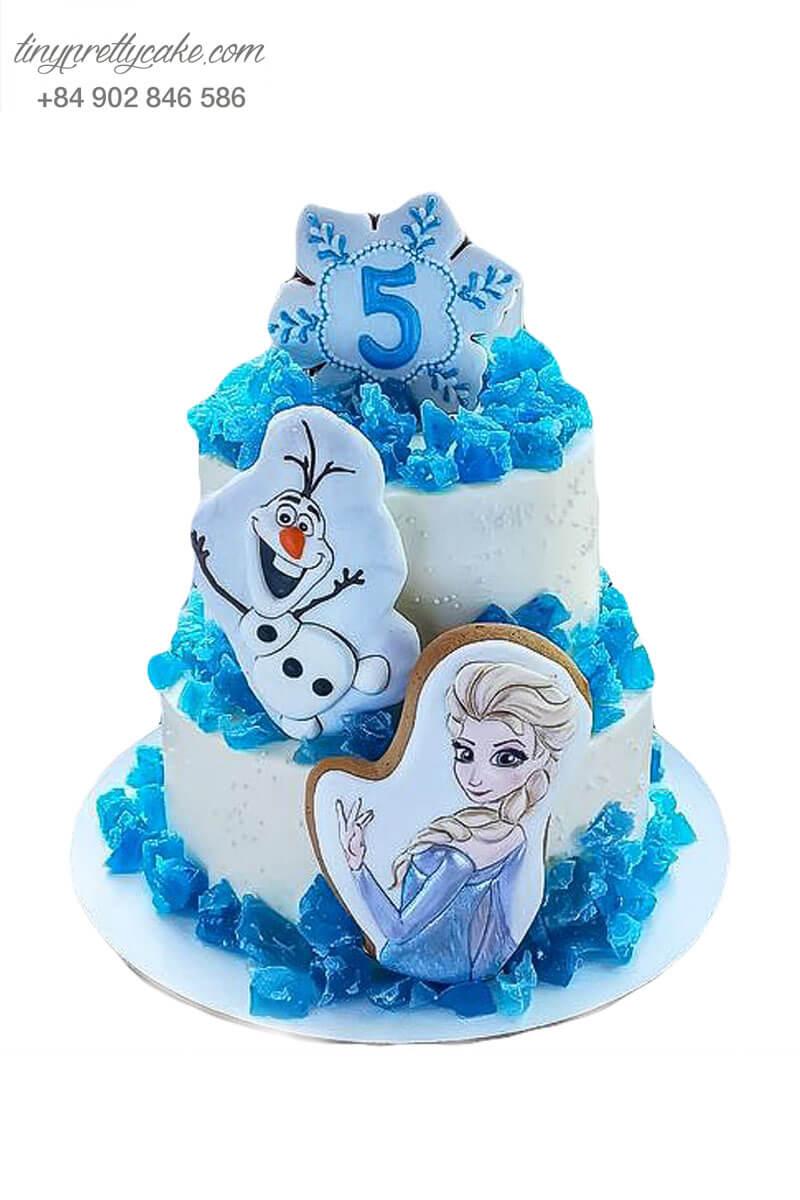 bánh kem 2 tầng Elsa