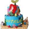 bánh sinh nhật 2 tầng nàng tiên cá