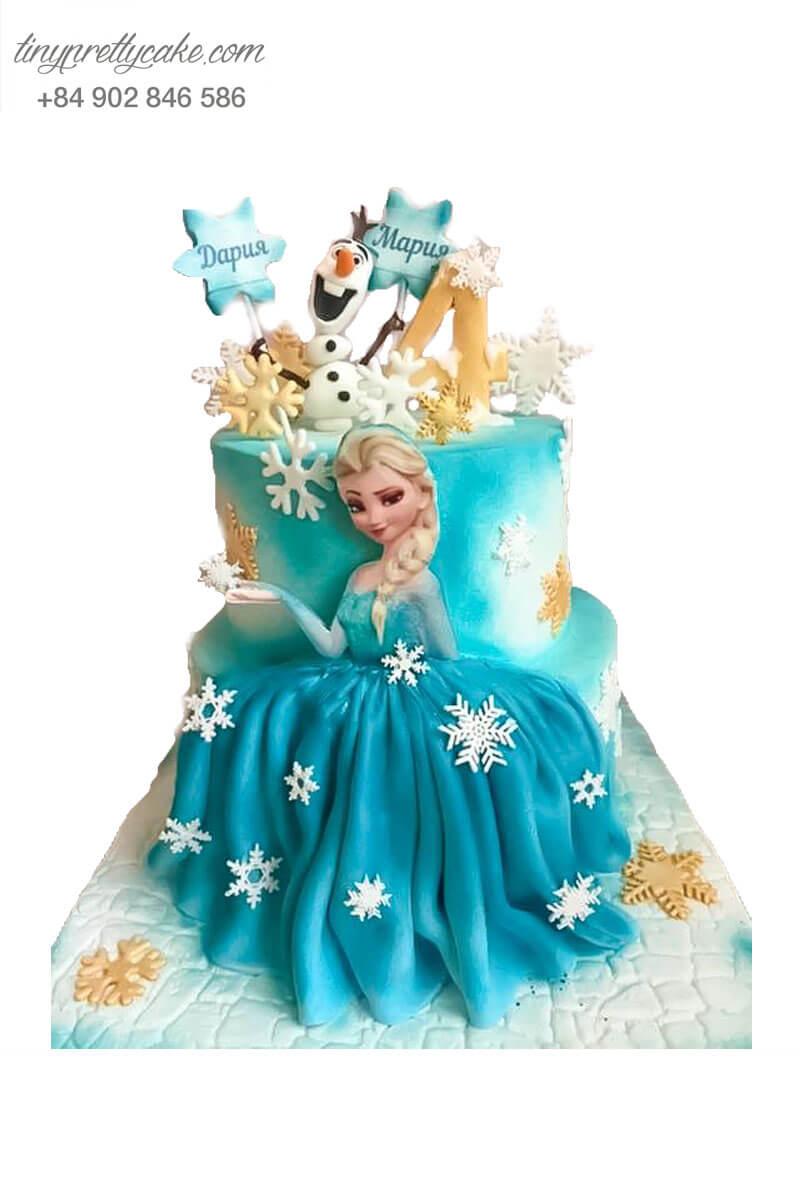 bánh sinh nhật nàng công chúa Elsa