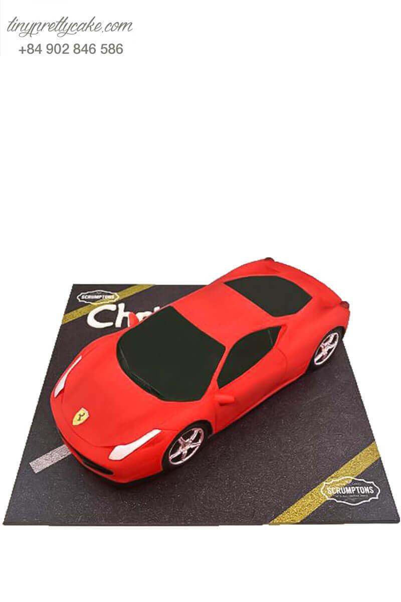 Bánh fondant xe đỏ