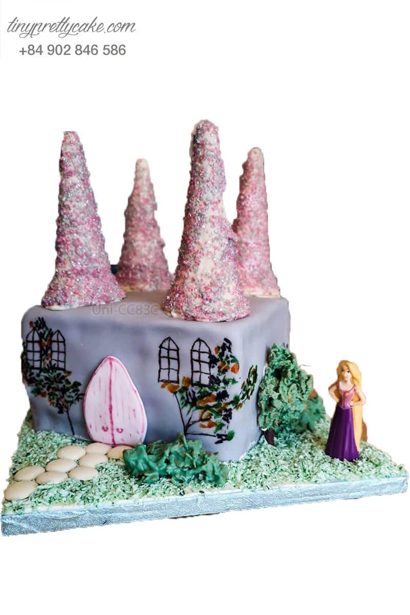 bánh sinh nhật lâu đài Rapunzel