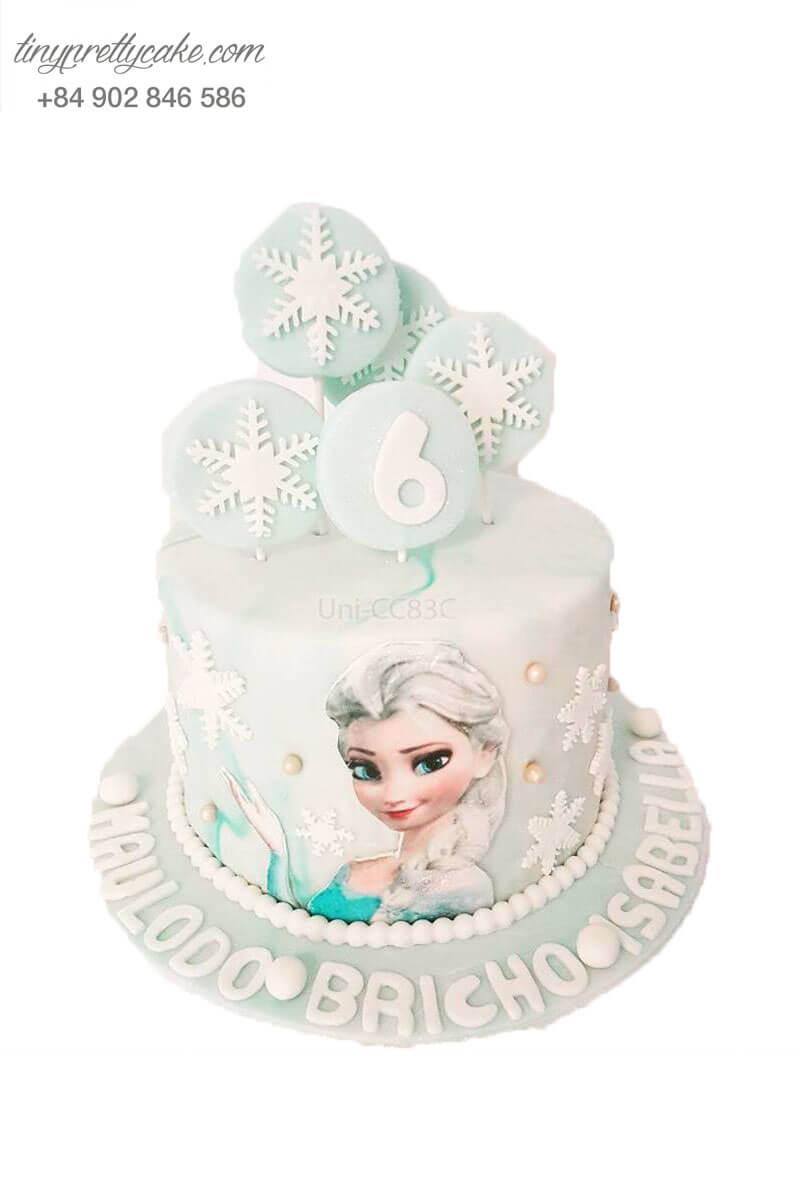 bánh sinh nhật in hình Elsa