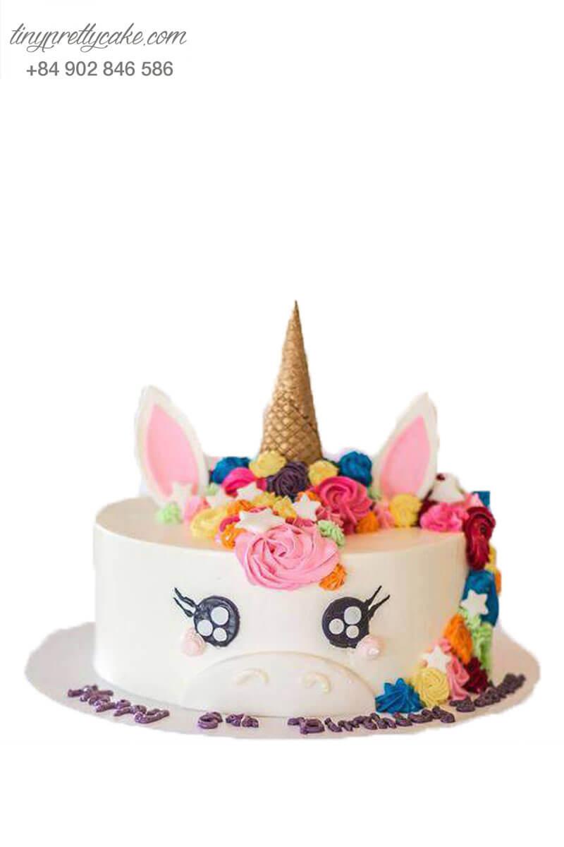 bánh kem Unicorn rực rỡ