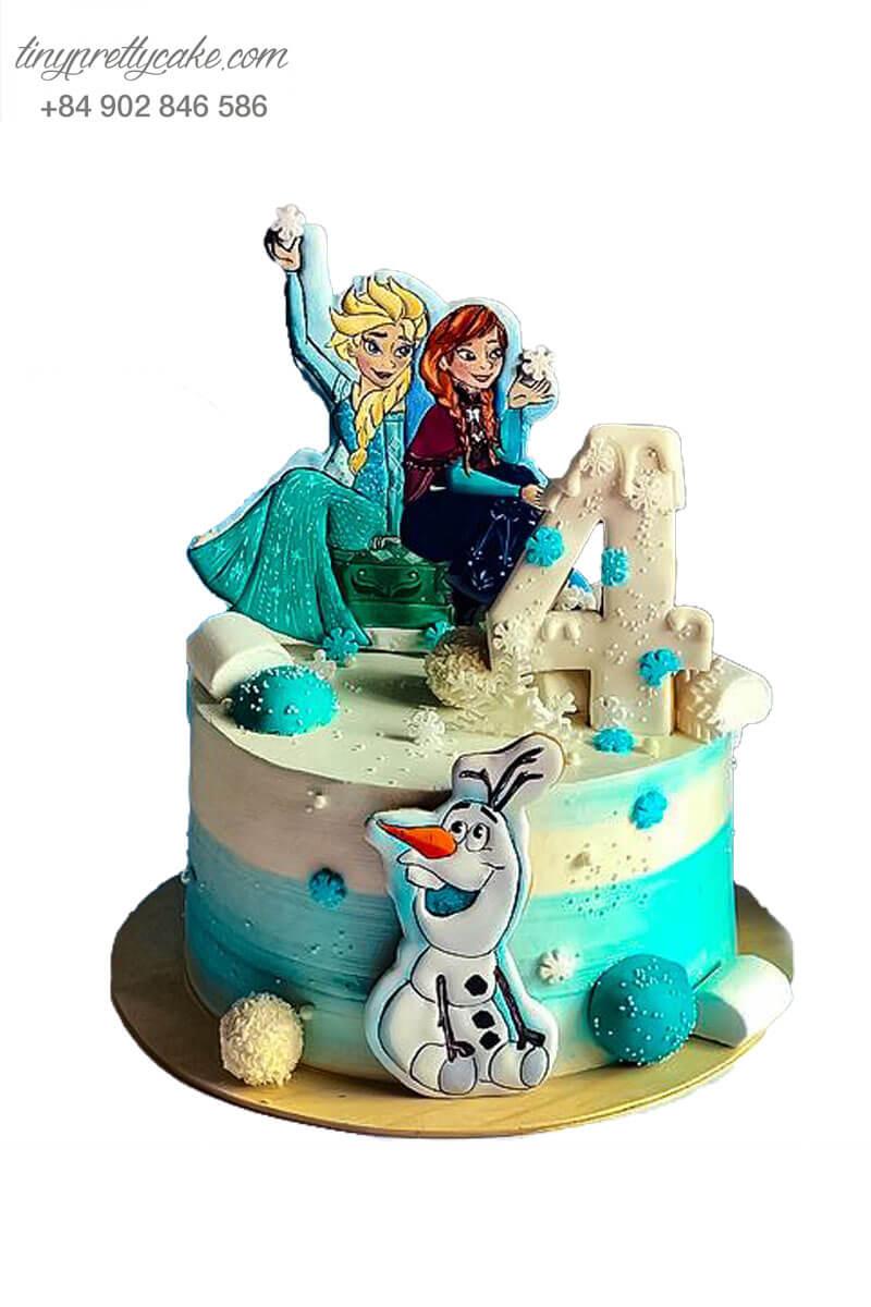 bánh kem công chúa Elsa đẹp