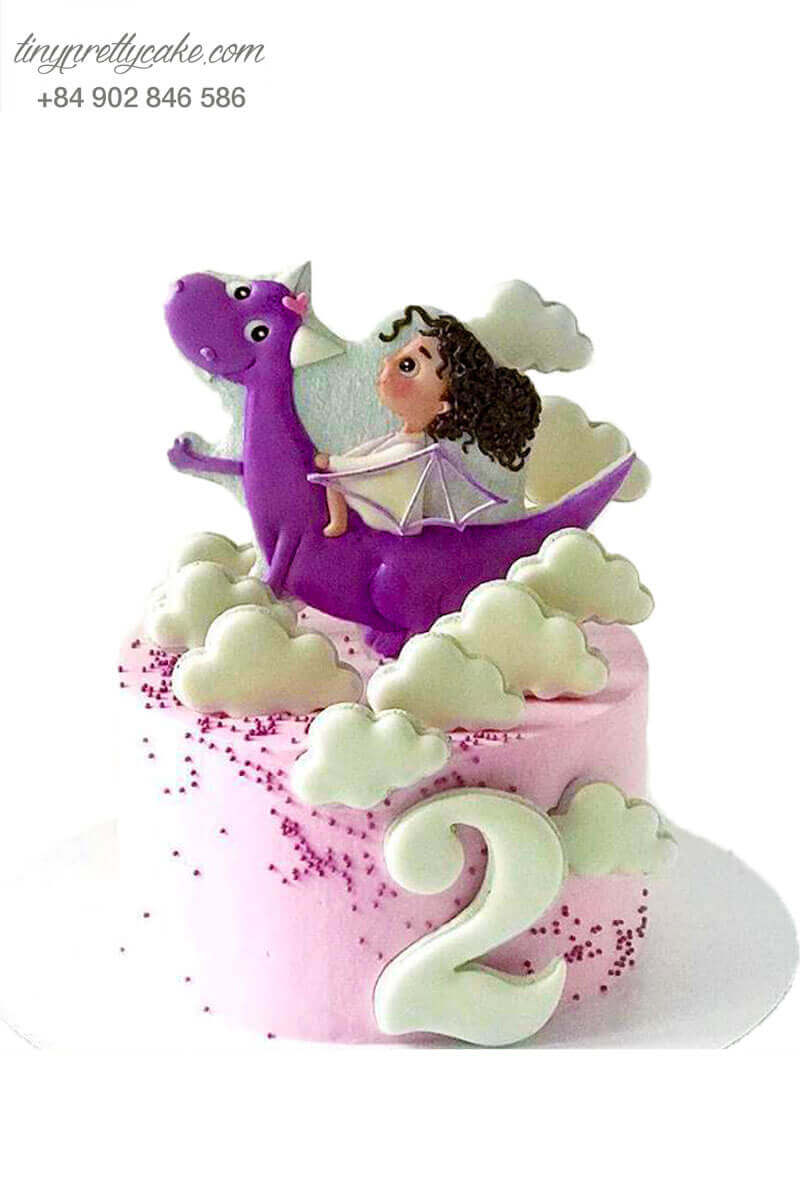 bánh kem em bé cưỡi rồng