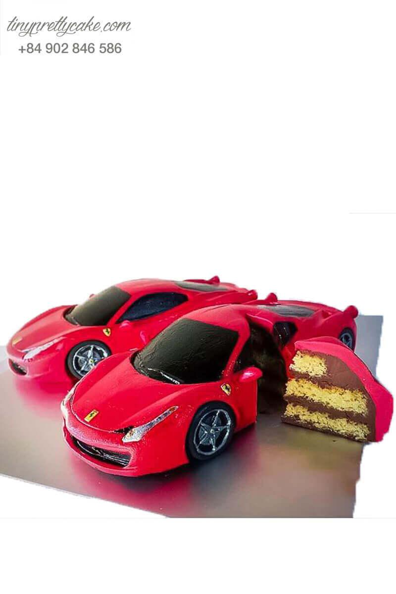 Bánh kem xe hơi đỏ
