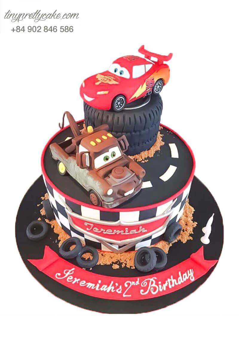Bánh sinh nhật ô tô mc queen đẹp
