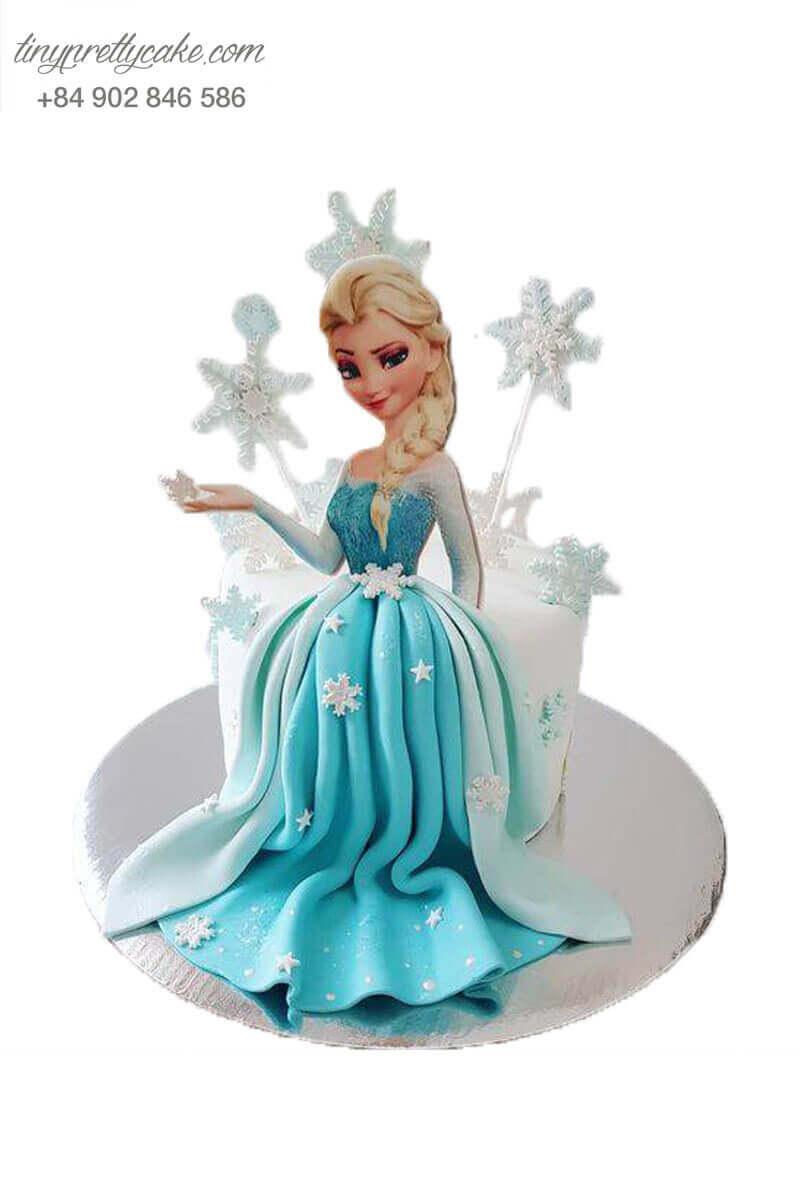 Bánh sinh nhật công chúa elsa đẹp