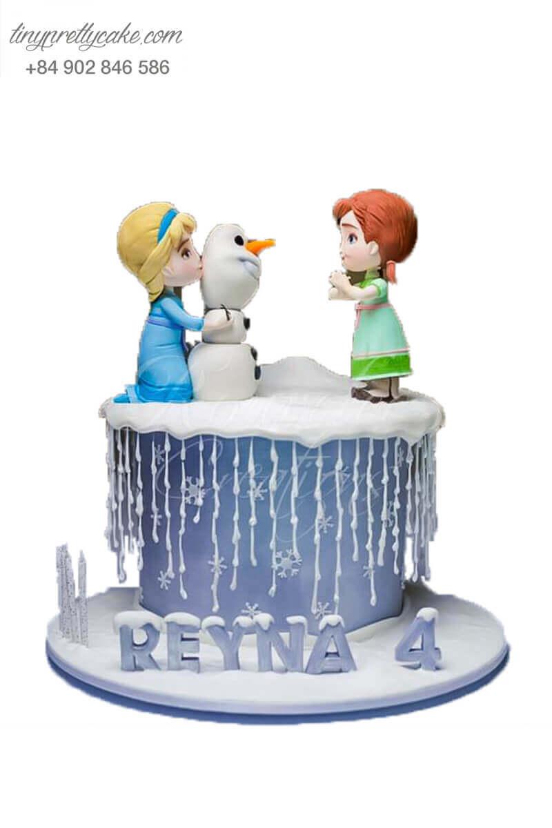 Bánh fondant Elsa và bạn
