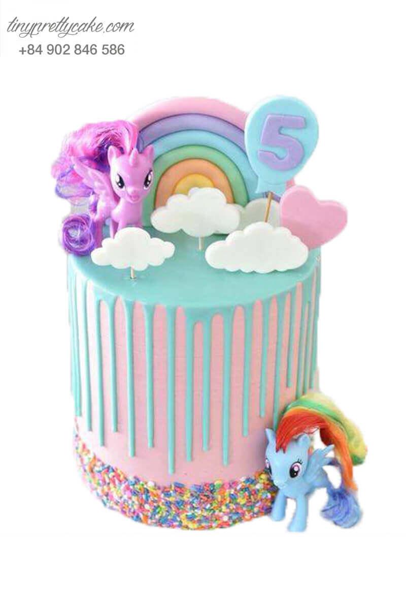 bánh sinh nhật ngựa Pony bé nhỏ