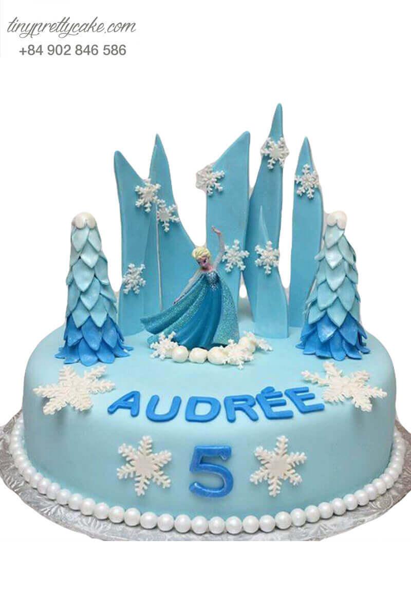 bánh sinh nhật nữ hoàng Elsa đẹp