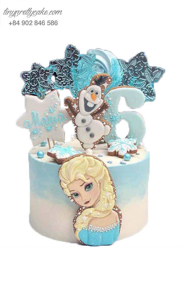 Bánh fondant Elsa ấn tượng