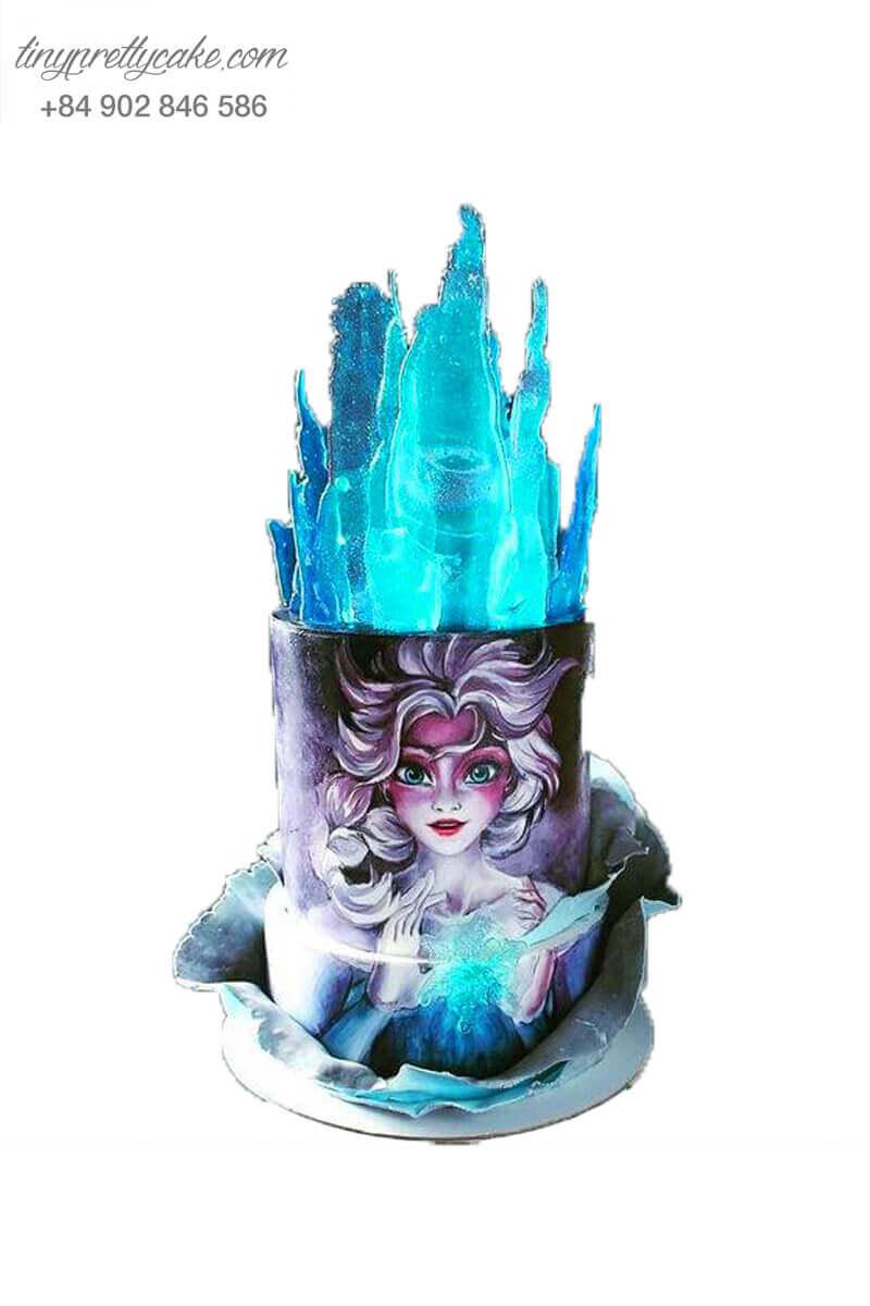 Bánh sinh nhật vẽ Elsa