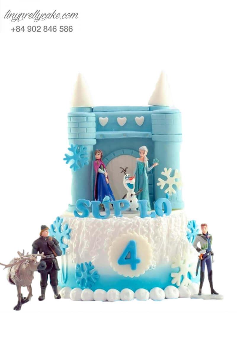Bánh gato lâu đài Elsa