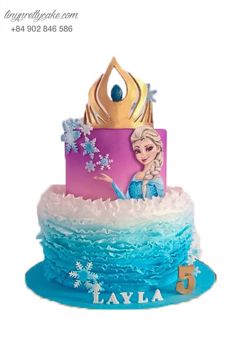 Bánh kem Elsa rực rỡ