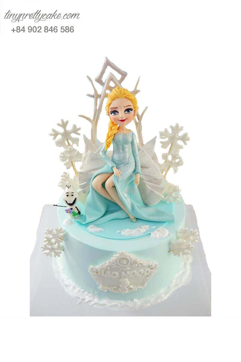 bánh kem nữ hoàng Elsa đẹp