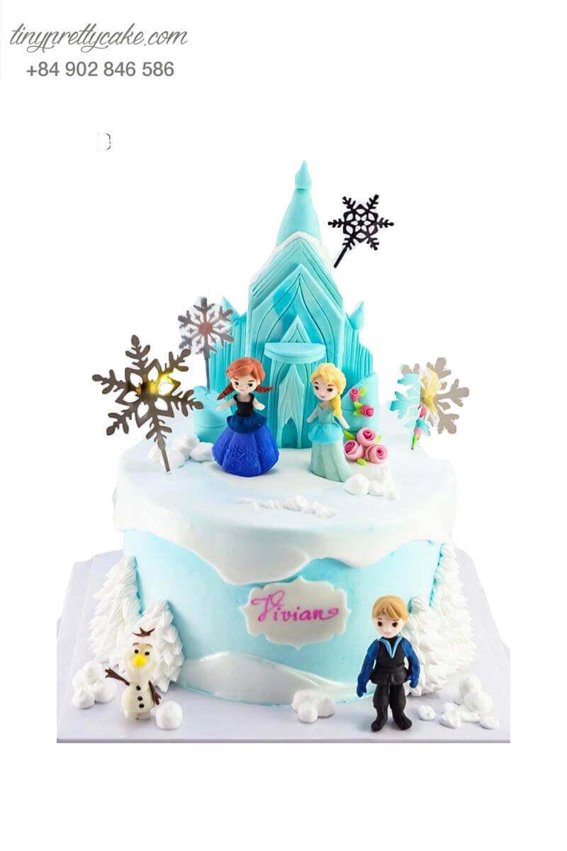 bánh kem Elsa và Anna đẹp
