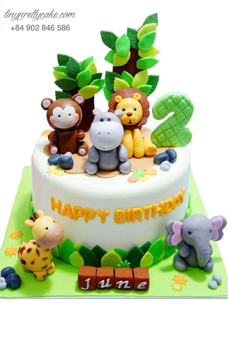 bánh sinh nhật hình động vật