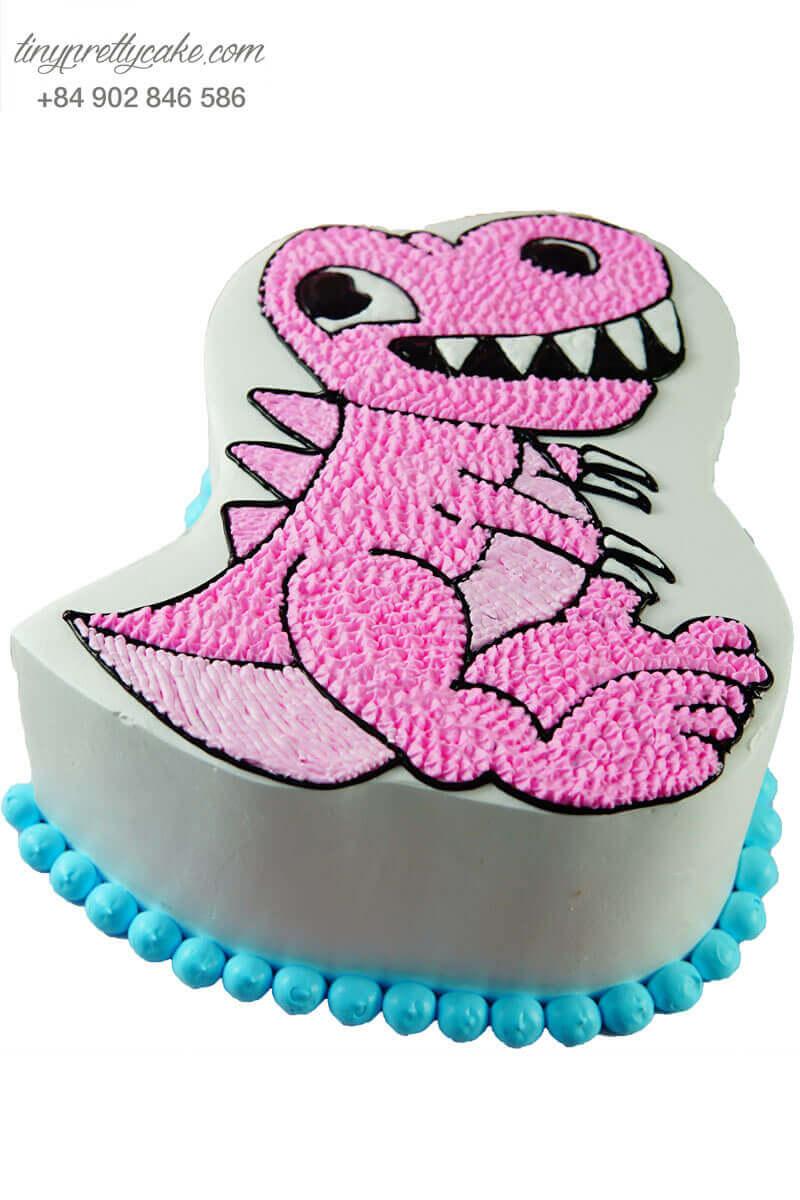 bánh kem vẽ hình khủng long