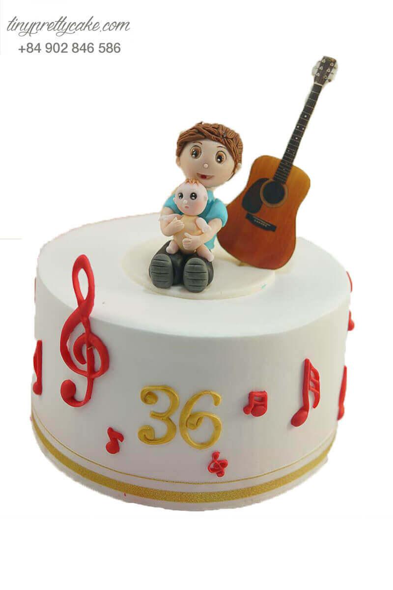 bánh kem đàn guitar