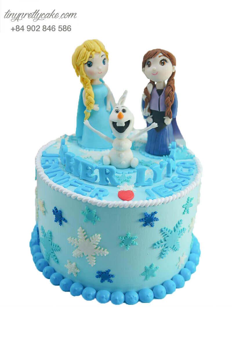 bánh kem công chúa tuyết Elsa
