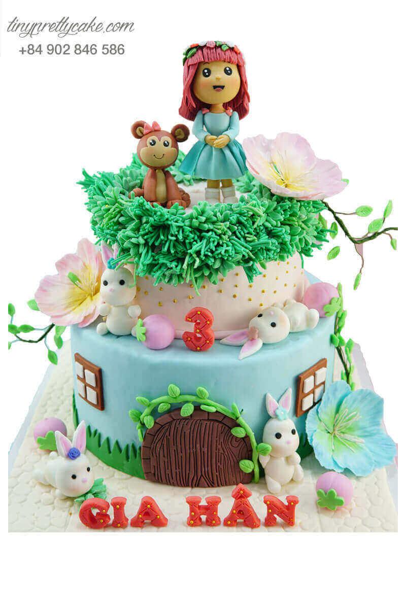 bánh sinh nhật cổ tích cho bé gái