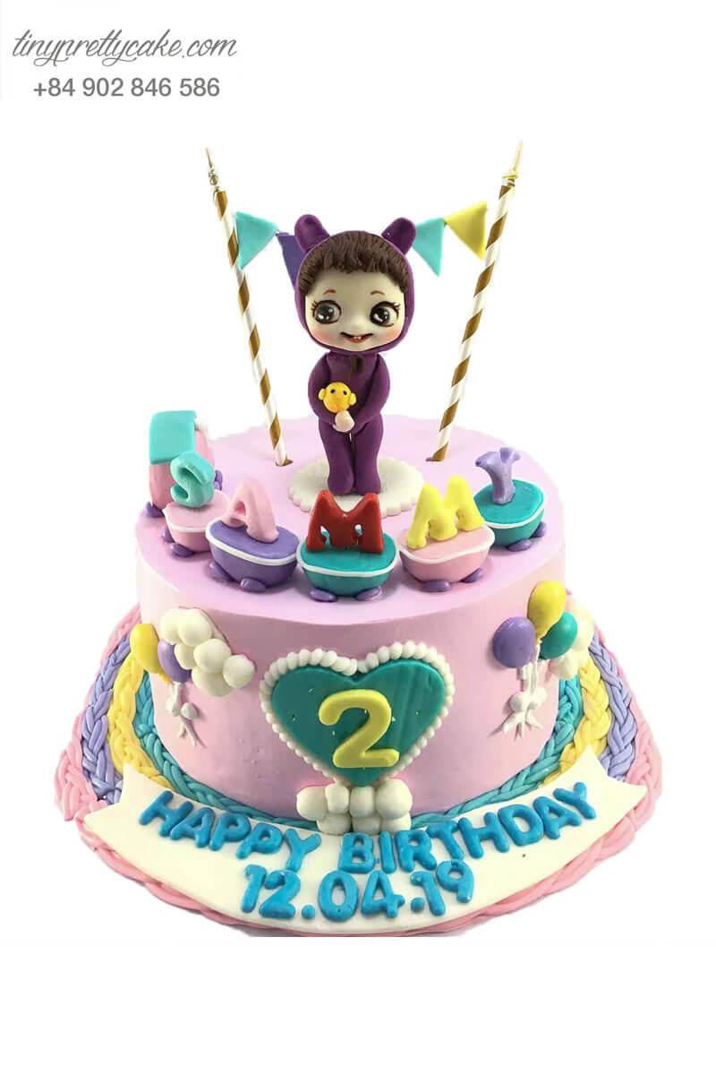 bánh sinh nhật dễ thương cho bé gái