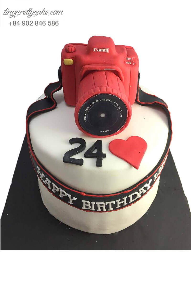 bánh sinh nhật máy ảnh