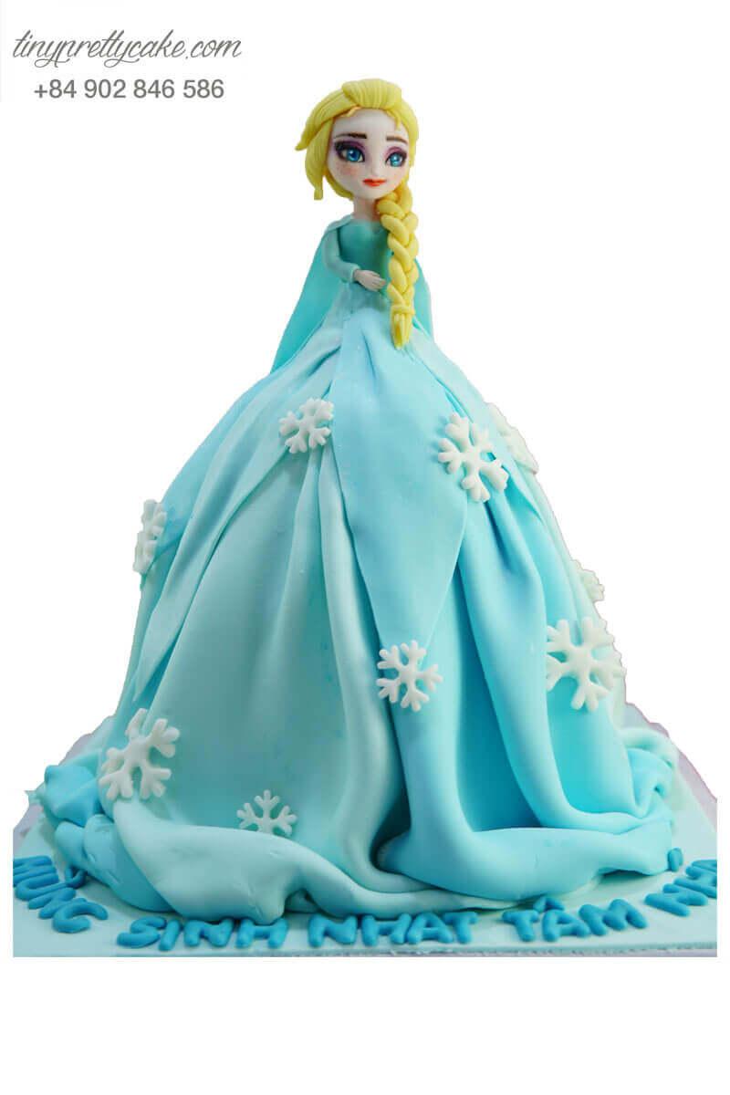 bánh sinh nhật tạo hình Elsa
