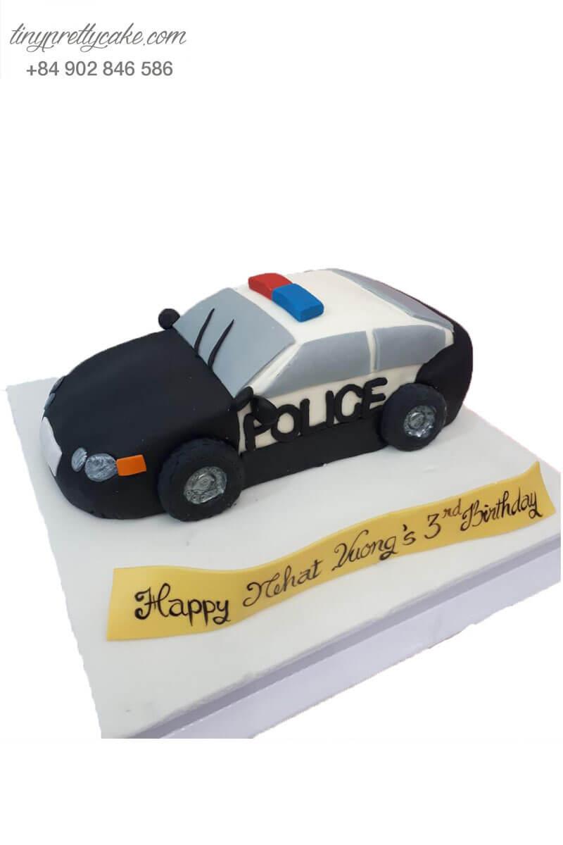 bánh kem hình xe cảnh sát