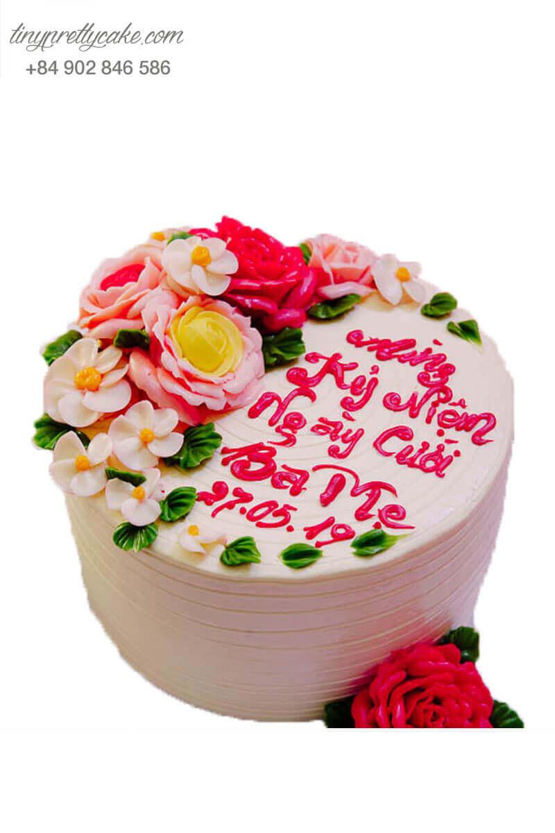 bánh kem kỉ niệm cưới ba mẹ