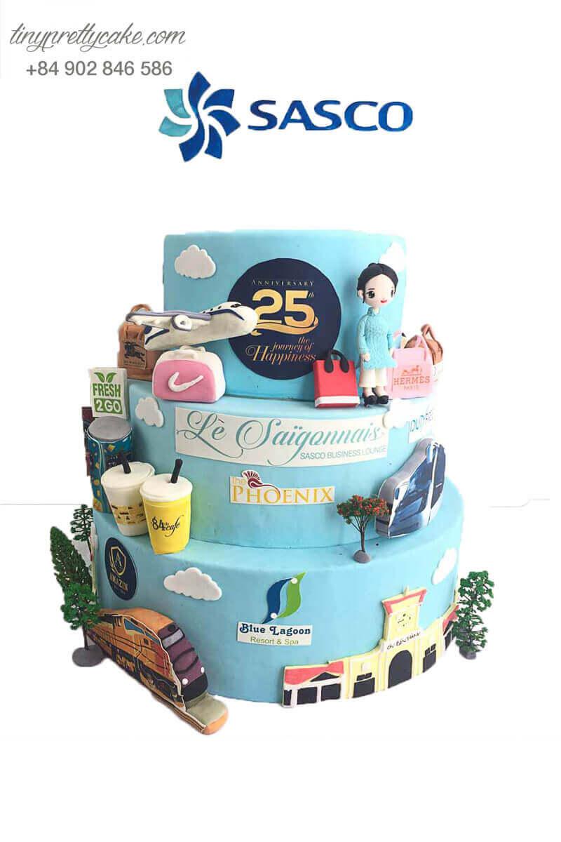 bánh kem kỉ niệm thành lập công ty Sasco