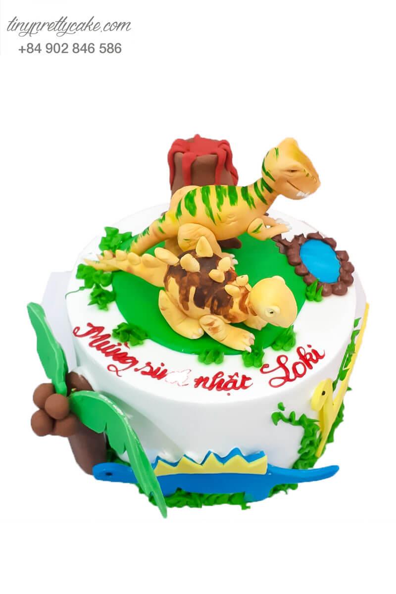 bánh sinh nhật chủ đề khủng long