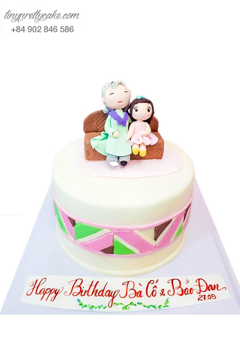 bánh sinh nhật cho bà và cháu
