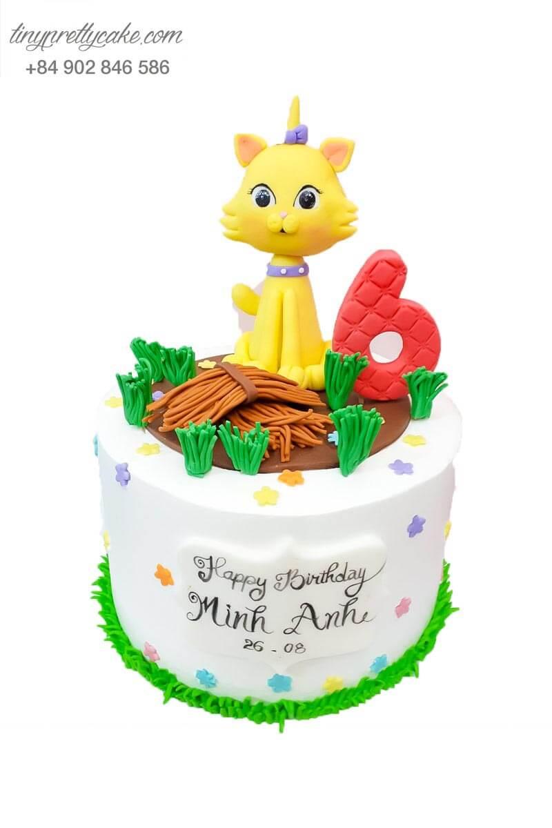 bánh sinh nhật hình con mèo đẹp