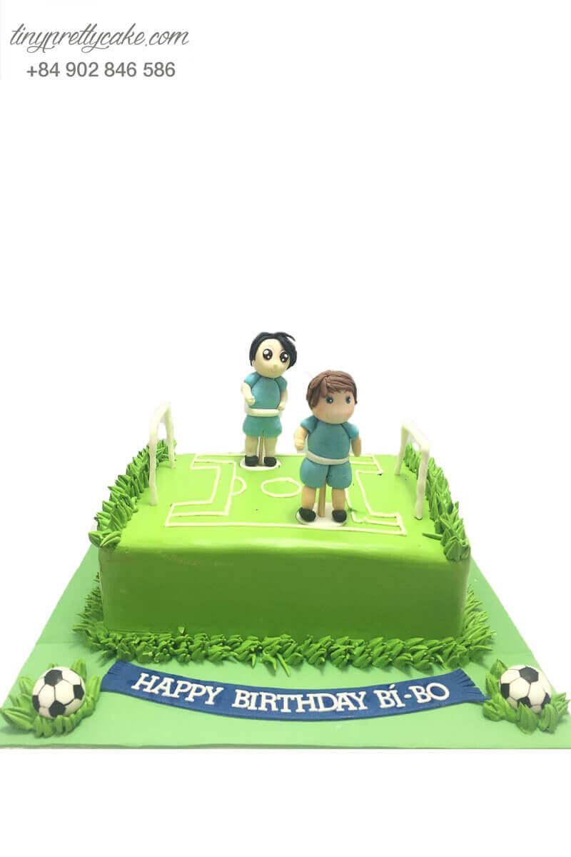 bánh sinh nhật hình sân bóng đá