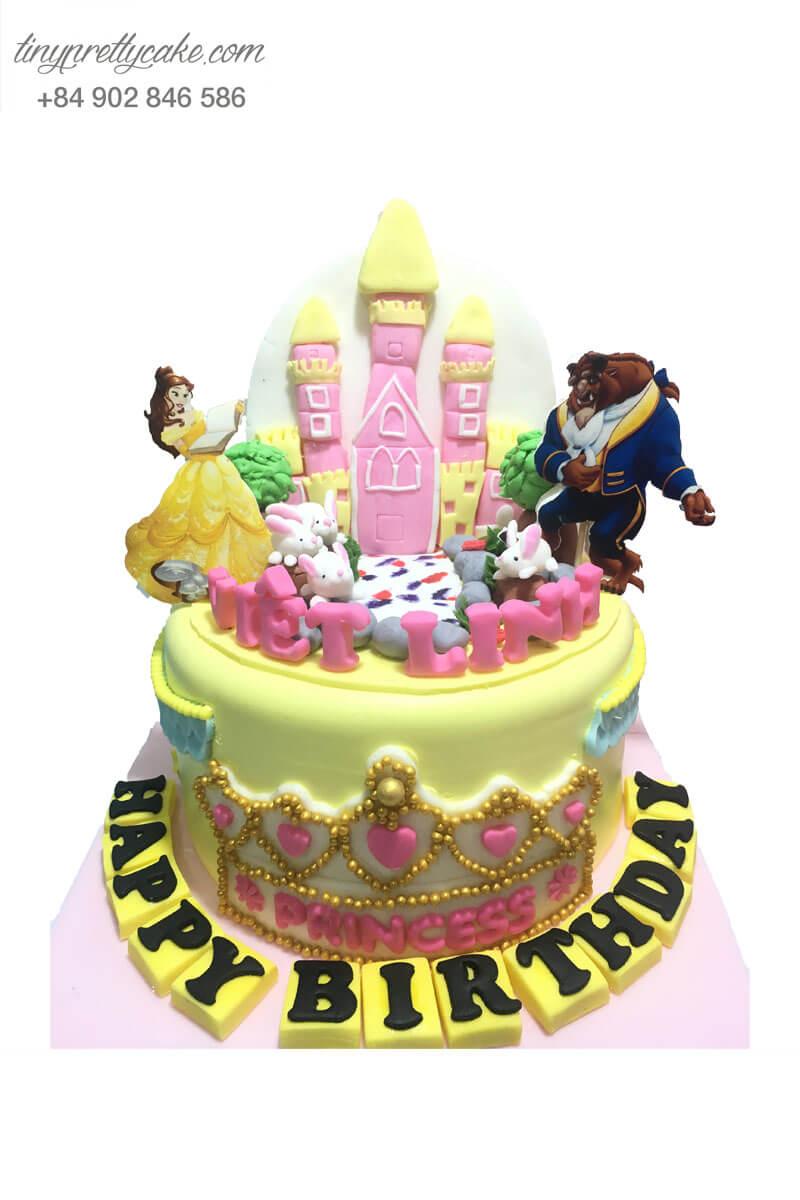 bánh sinh nhật người đẹp và quái vật