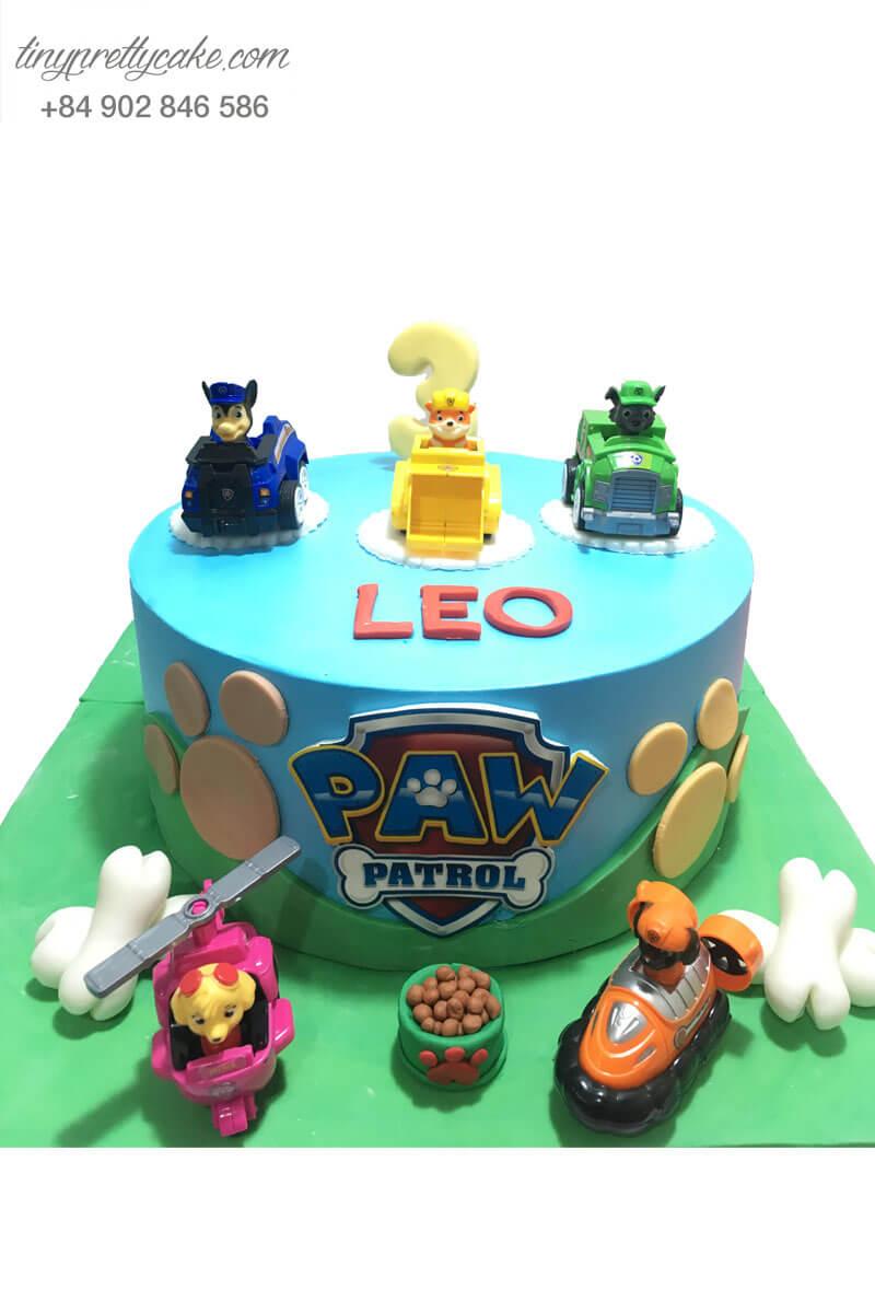 bánh sinh nhật paw patrol cho bé trai