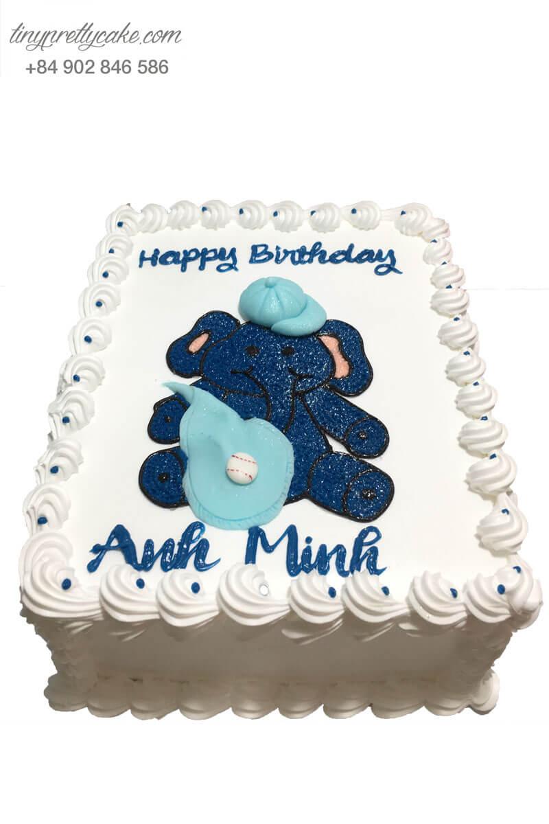 bánh sinh nhật vẽ hình con voi
