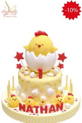 bánh sinh nhật hình gà con
