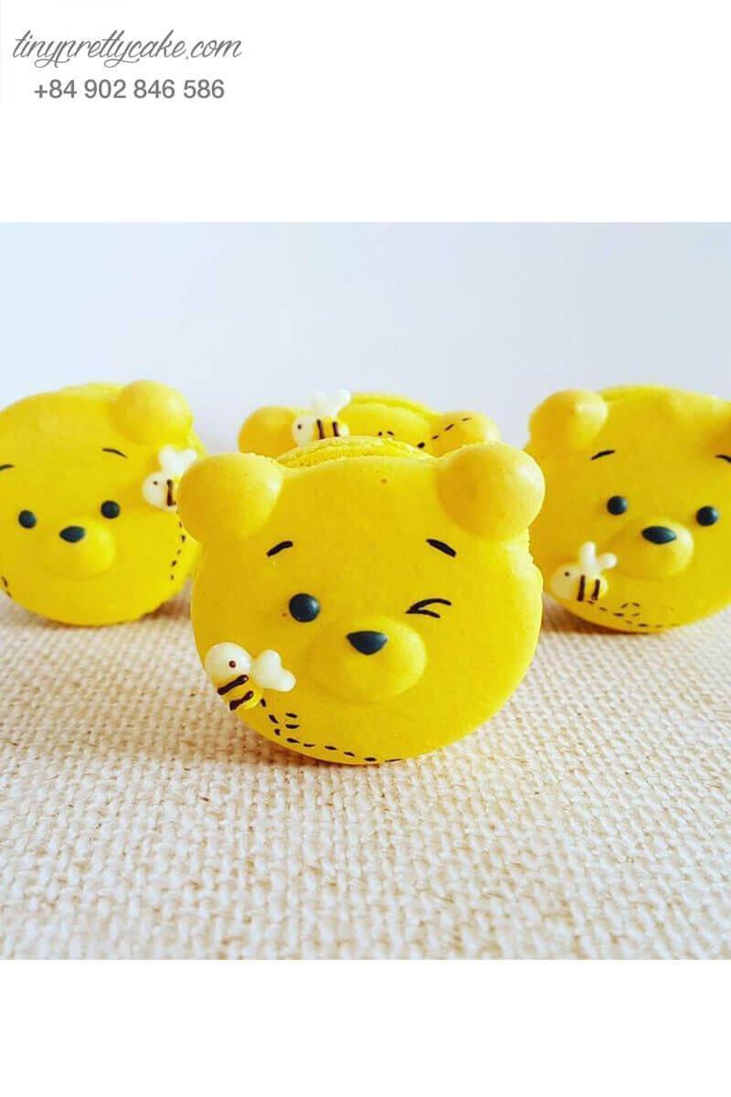 macaron hình gấu pooh