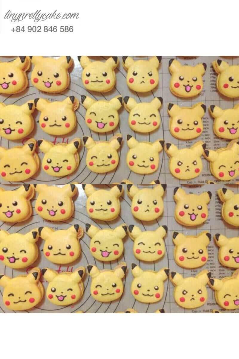 macaron hình pikachu