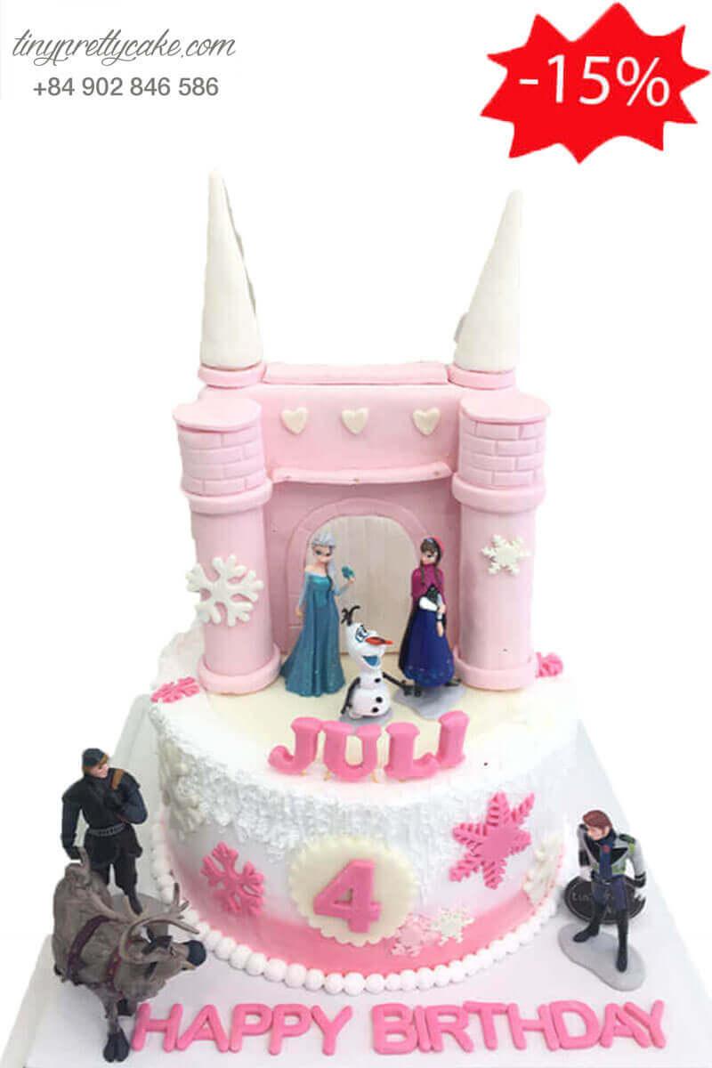 bánh kem Elsa cho bé gái